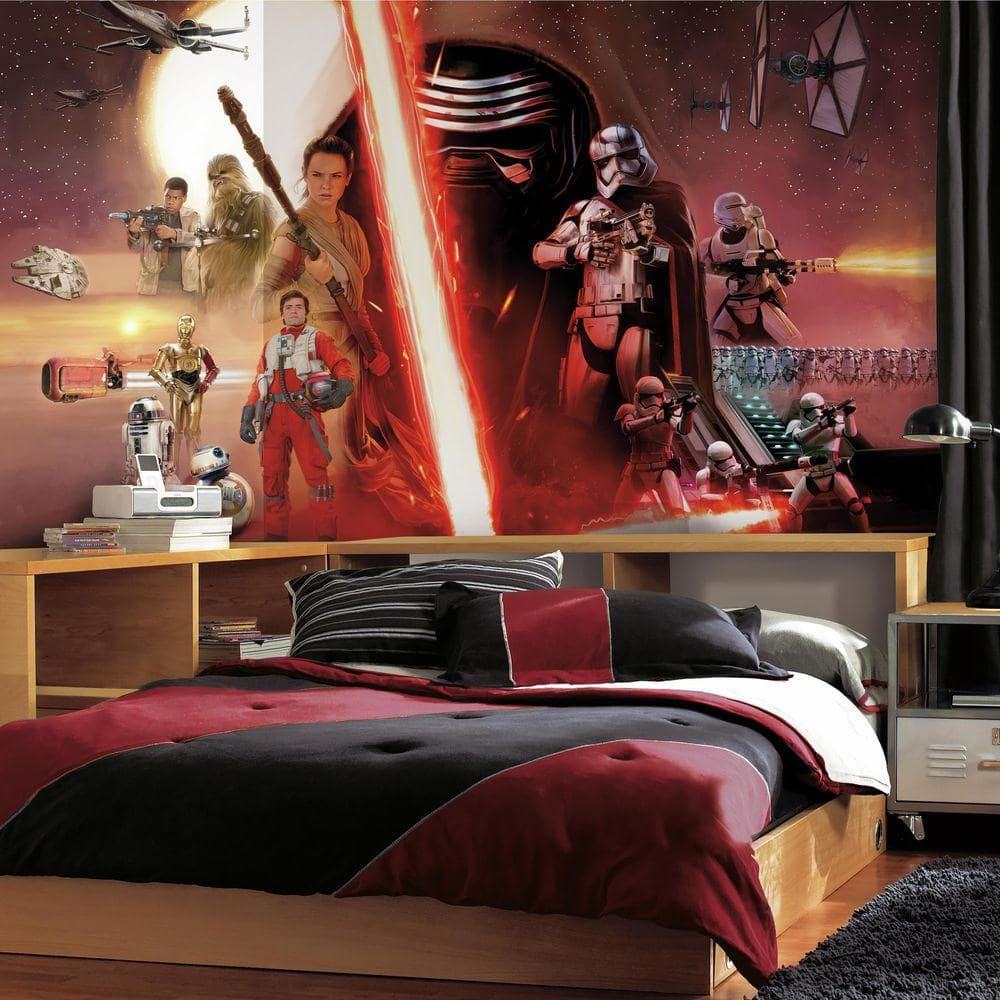 Roommates 72 In X 126 In Star Wars Ep Vii 7 Panel Pre Pasted Xl Surestrip Wall Mural Jl1369m The Home Depot