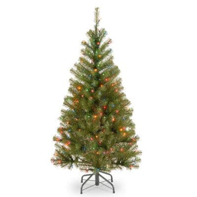 4 ft. Aspen Spruce Artificial Christmas Tree with Multicolor Lights