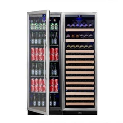 Dual Zone 47 in. 131-Bottle Wine and 450-Can Beverage Cooler