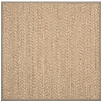Natural Fiber Beige/Gray 6 ft. x 6 ft. Square Indoor Area Rug