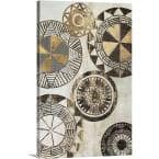 "20 in. x 30 in. ""African Rings I"" by  Tom Reeves Canvas Wall Art"
