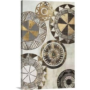 20 in. x 30 in. ''African Rings I'' by  Tom Reeves Canvas Wall Art