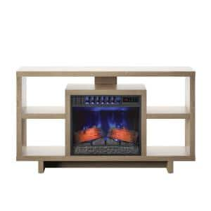 58 in. Freestanding Wooden ClassicFlame CoolGlow Electric Fireplace TV Stand in Natural Oak