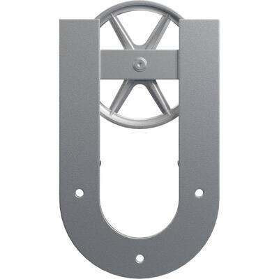 1-5/8 in. x 8 in. x 13-5/8 in. Steel Premium Wagon Wheel Horseshoe Roller Hanger Moulding Silver Metallic