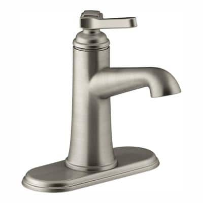 Georgeson Single-Hole Single-Handle 1.2 GPM Bathroom Faucet with Pop-Up Drain in Vibrant Brushed Nickel
