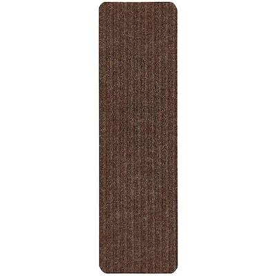 Old Brown 7 in. x 24 in. Indoor Carpet Stair Treads Slip Resistant Backing (Set of 13)