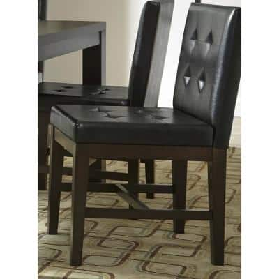 Athena Dark Chocolate Upholstered Dining Chairs (2/ctn)