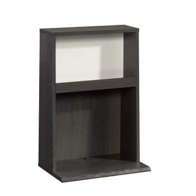 Hudson Court Charcoal Ash with Pearl Oak Accent Engineered Wood Wall-Mounted Night Stand 26 in.H x 18 in.W x 11 in.D