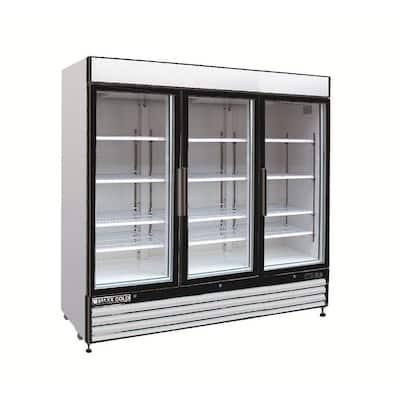 X-Series 72 cu. ft. Triple Door Commercial Upright Merchandiser Freezer in White