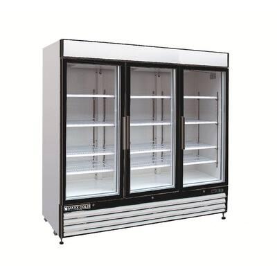 X-Series 72 cu. ft. Triple Door Merchandiser Refrigerator in White