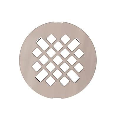 Metal Shower Floor Strainer in Brushed Nickel