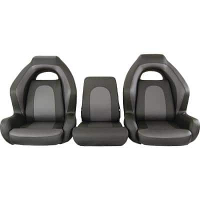 Ozark Bass Seat 3-Piece Bench in Gray
