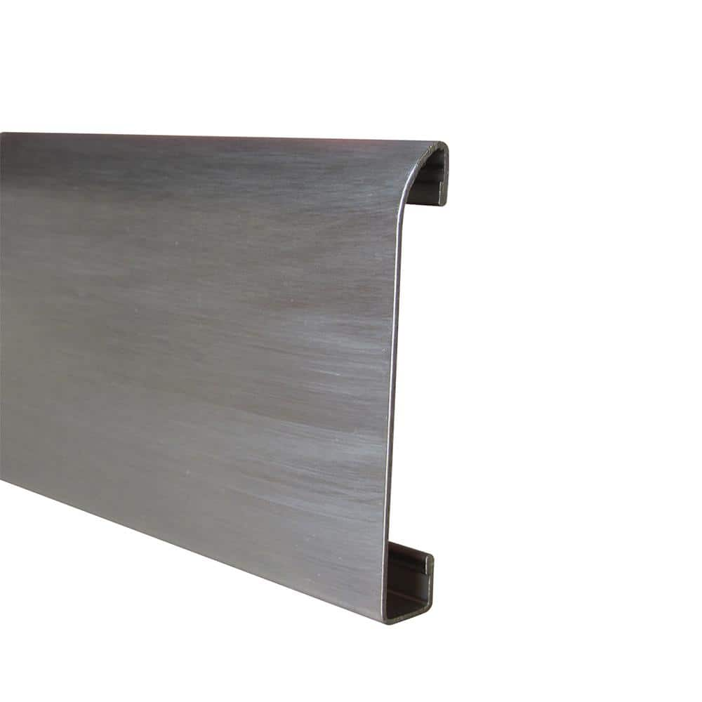Emac Novorodapie Stainless Steel Brushed 2 3 8 In X 78 In Tile Edging Trim Nre88656 The Home Depot
