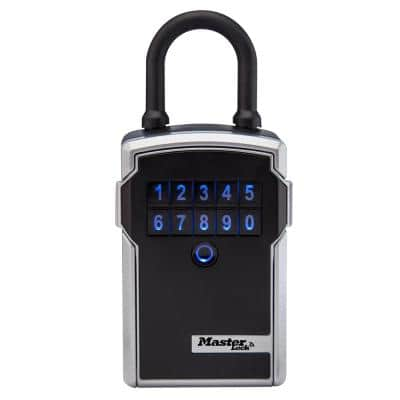 Bluetooth 3-1/4 in. Wide Zinc Portable Lock Box with Personal Use Software