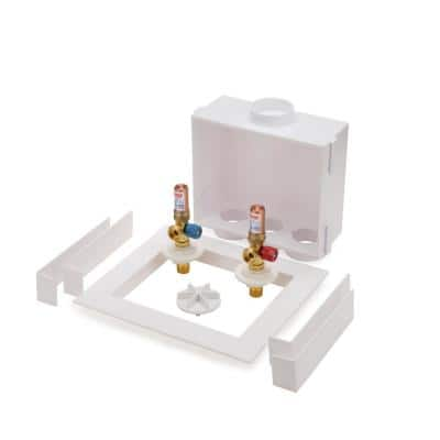 Quadtro 1/4 in. Turn Copper Washing Machine Outlet Box with Water Hammer Arrestor