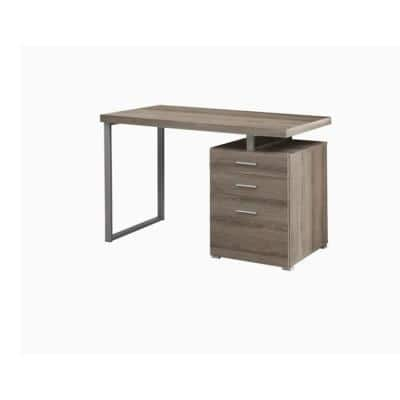 60 in. Dark Taupe with Filing Drawer Contemporary Computer Desk
