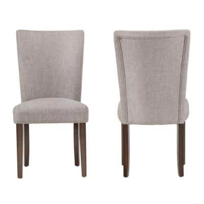 Whitmire Smoke Linen Dining Chair (Set of 2)