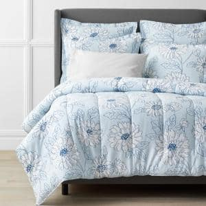 Legends Hotel Dahlia Bloom Multicolored Floral King Cotton & TENCEL Lyocell Comforter