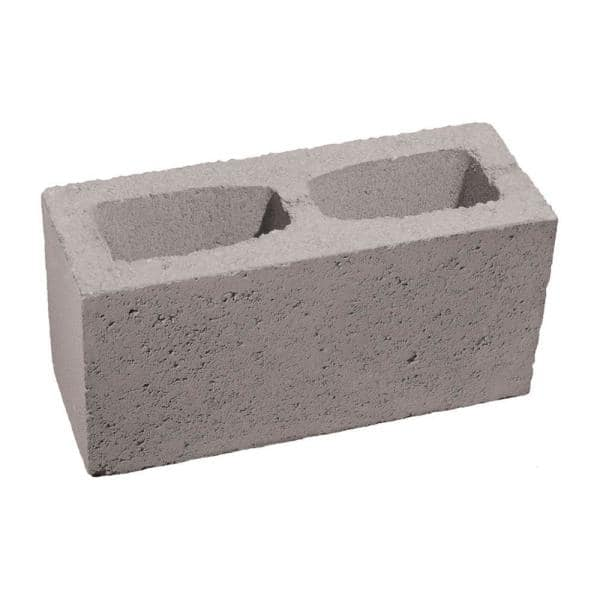 6 In X 8 In X 16 In Gray Concrete Block 100002879 The Home Depot