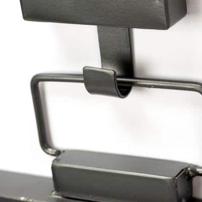 Large Rectangle Gun Metal Gray Modern Mirror (43.8 in. H x 24.8 in. W)