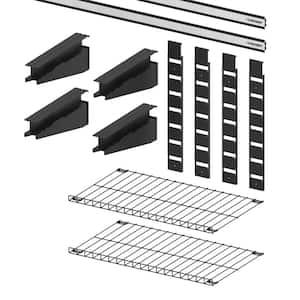 Garage Wall Track 2-Shelf Value Kit (12-Pieces)
