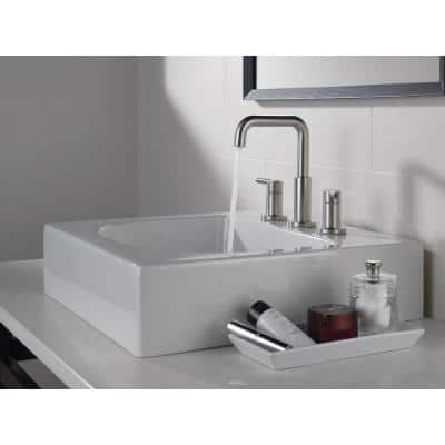Nicoli 8 in. Widespread 2-Handle Bathroom Faucet in Stainless