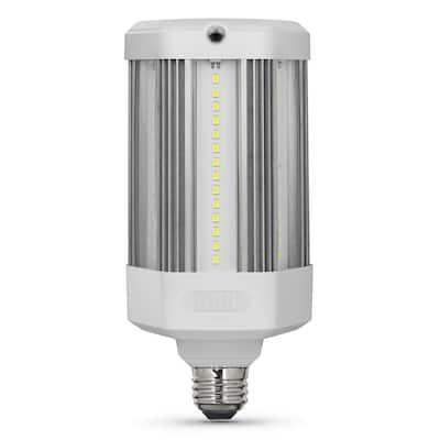 300W Equivalent Corn Cob Motion Activated & Dusk To Dawn High Lumen Daylight (5000K) HID Utility LED Light Bulb (1-Bulb)