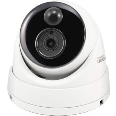 4K NVR Dome IP Hardwired Camera with Face Recognition