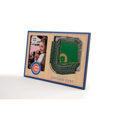 MLB Chicago Cubs Team Colored 3D StadiumView with 4 in. x 6 in. Picture Frame
