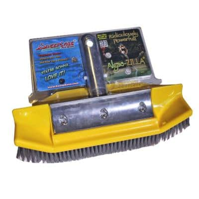 Algae-Zilla 10 in. Stainless Steel Algae Brush Patented Design Sticks to Walls for Faster Cleaning