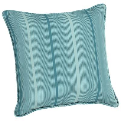 Acrylic 20 in. Aegean Stripe Outdoor Throw Pillow