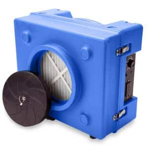 1/3 HP 2.5 Amp HEPA Air Scrubber Purifier for Water Damage Restoration Negative Air Machine in Blue