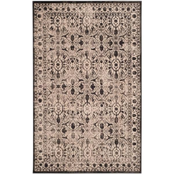 Safavieh Brilliance Cream Black 4 Ft X 6 Ft Area Rug Brl502c 4 The Home Depot