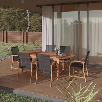 Bahamas Oval 7-Piece Eucalyptus Patio Dining Set