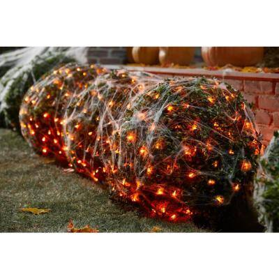 4 ft. x 6 ft. 300 Orange Mini LED Net Lights