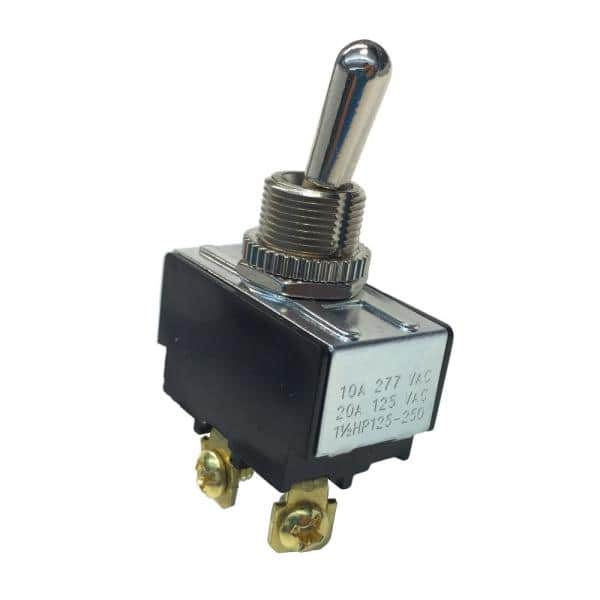 ON-Off SPST 20 A//125V AC GSW-121 Heavy-Duty Electrical Toggle Switch Spade Terminal