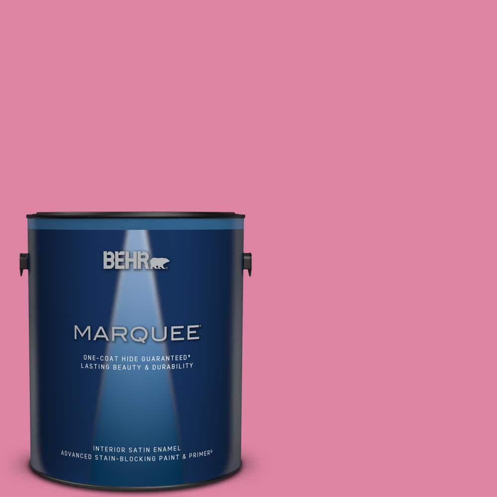 Behr Marquee 1 Gal Home Decorators Collection Hdc Md 10a Sweet Chrysanthemum Satin Enamel Interior Paint Primer 745401 The Home Depot