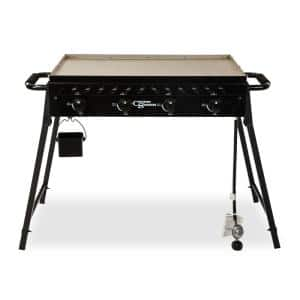 The Highland-Horizon 597 sq. in. 4-Burner Portable Gas Griddle Cooking Space in Black
