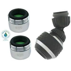 1.5 GPM Water-Saving Advantage Pack in Black/Chrome