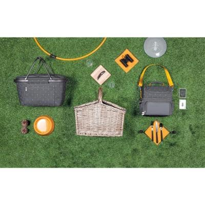 Piccadilly Wood Tan Picnic Basket
