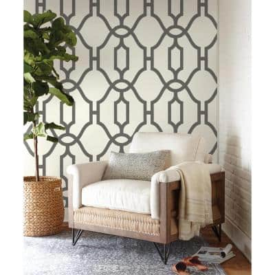 Woven Trellis Repurpose Geometric Paper Pre-Pasted Strippable Wallpaper Roll (Covers 56 Sq. Ft.)