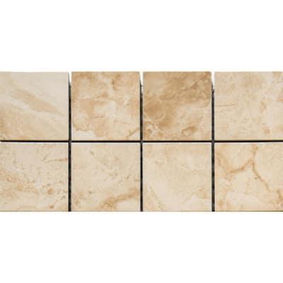 Cancun Beige Square 12 in. x 12 in. x 10 mm Matte Ceramic Mosaic Tile (1 sq. ft.)