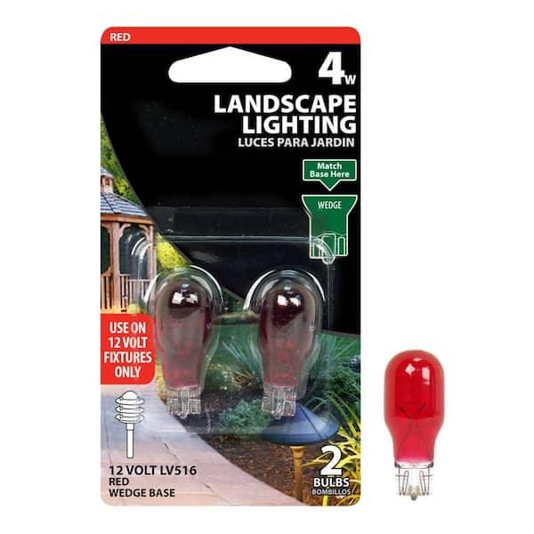 Wedge Base S4551 4w 12v Landscape Lamp 4//Pk