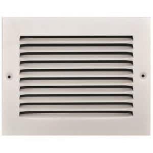 8 in. x 6 in. White Stamped Return Air Grille