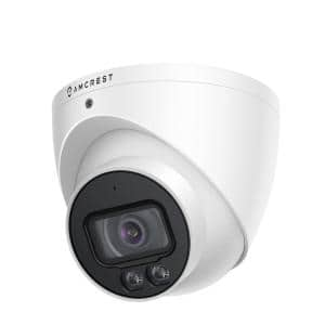 4MP UltraHD Wired PoE Turret Security Camera with 66 ft. Full Night Color, Built-in Mic, Cloud, 113° FOV, 2.8 mm Lens