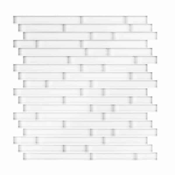 Inoxia Speedtiles Serenity White 11 65 In X 11 69 In X 5mm Glass Self Adhesive Wall Mosaic Tile 11 4 Sq Ft Case Ig12a117016l The Home Depot