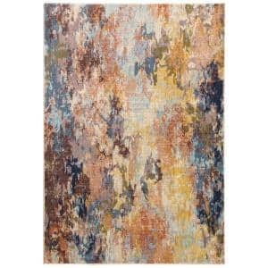 Xenia Multi 4 ft. x 6 ft. Abstract Area Rug