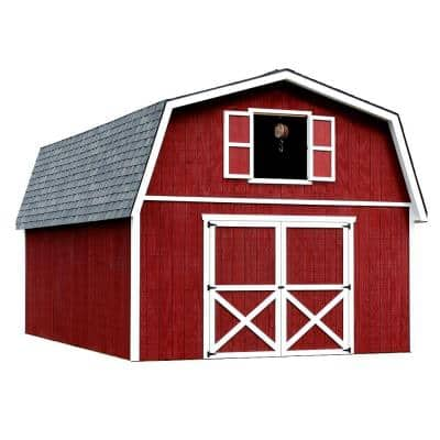 Roanoke 16 ft. x 32 ft. Wood Storage Building
