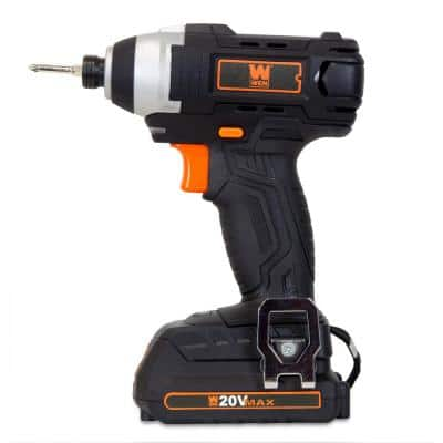 20-Volt MAX Lithium-Ion Cordless 1/4-In. Impact Driver with Battery Bits Charger and Carrying Bag