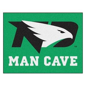 University of North Dakota Green 3 ft. x 4 ft. Man Cave Indoor All Star Area Rug